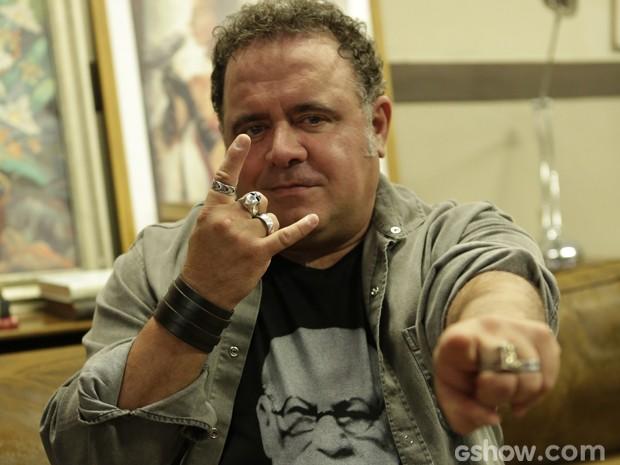 Leo Jaime é um dos ícones do rock no cenário nacional (Foto: Fábio Magalhães / TV Globo)
