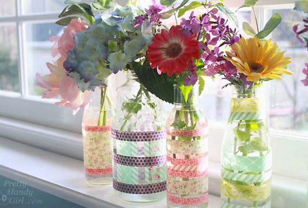 Não dá para negar, washi tape vai bem em tudo (Foto: www.prettyhandygirl.com)