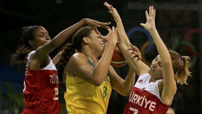 Turquia x Austrália basquete feminino Lara Sanders Liz Cambage (Foto: REUTERS/Shannon Stapleton)