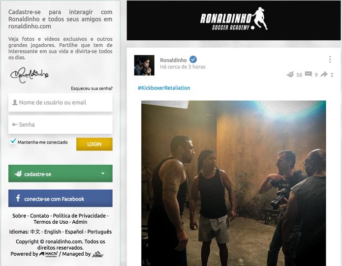Rede social tem recursos parecidos com o Facebook (Foto: Reprodução/Camila Peres)
