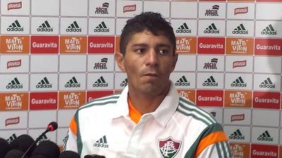 Coletiva Edson Fluminense (Foto: Richard Souza)