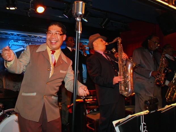 A nova-iorquina George Gee Swing Orchestra é formada por 12 integrantes que apresentam sucessos da era das grandes orquestras de swing (Foto: Lynn Redmile)