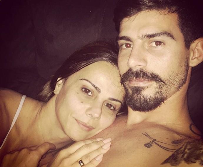 Viviane Araújo com o marido Radamés (Foto: Arquivo Pessoal)