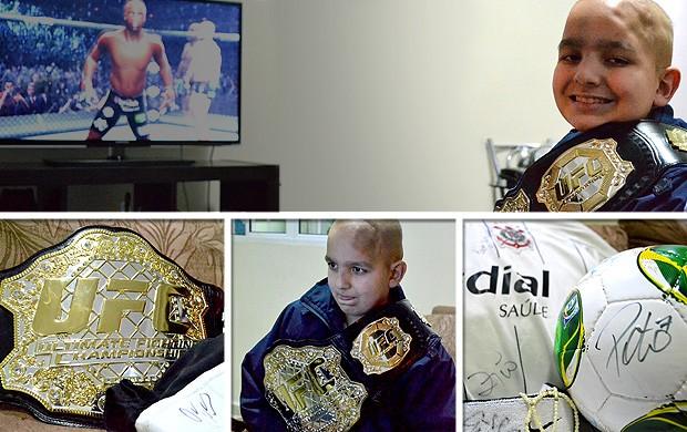 chamada carrossel Felipe Adorno menino ganhou o cinturão do UFC (Foto: Thiago Fidelix )