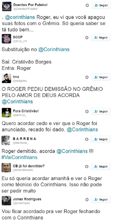 Cristóvão Borges Roger Corinthians  (Foto: Reprodução)