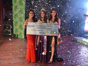 Atual Miss Amapá Nataly Uchôa na premiação do concurso em 2013 (Foto: Divulgação/Miss Amapá Oficial)