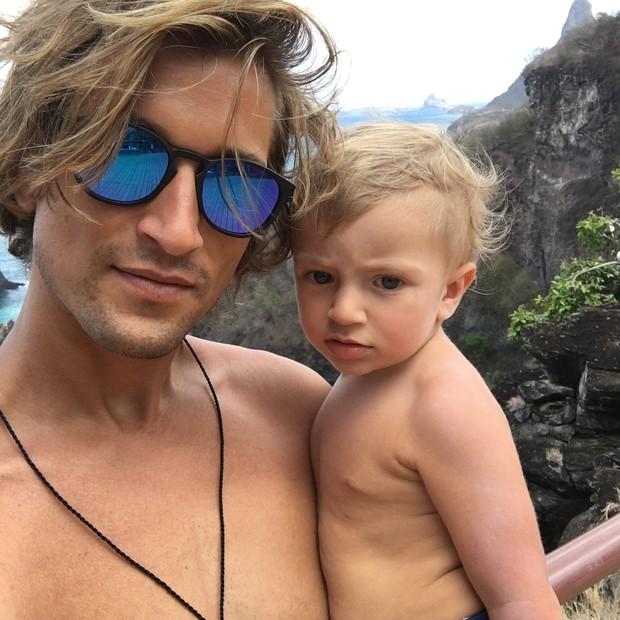Hermann Nicoli e o filho, Anacã (Foto: reprodução/instagram)