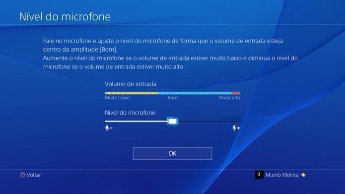 Playstation 4: como configurar o volume e o microfone do headset (Foto: Reprodução/Murilo Molina)