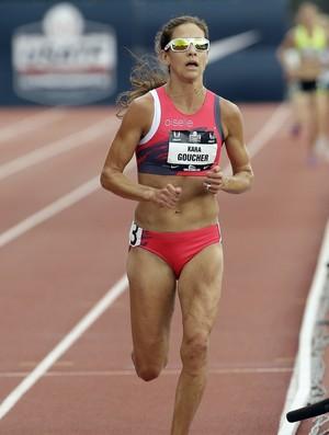 Kara Goucher no Campeonato Americano de Atletismo, neste fim de semana (Foto: AP)