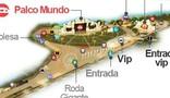 mapa: a cidade do rock (Editoria de Arte/G1)