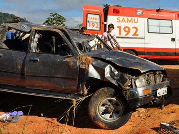 acidente  (Foto:  Danuse Cunha/Itamaraju Notícias)