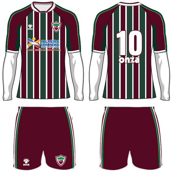 Modelo 1 do uniforme do CSE para 2016 (Foto: Divulgação / Assessoria CSE)
