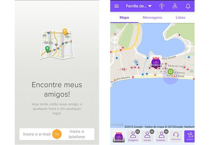 App Encontre meus Amigos compartilha sua localização com grupo de amigos (Foto: Reprodução/Barbara Mannara)