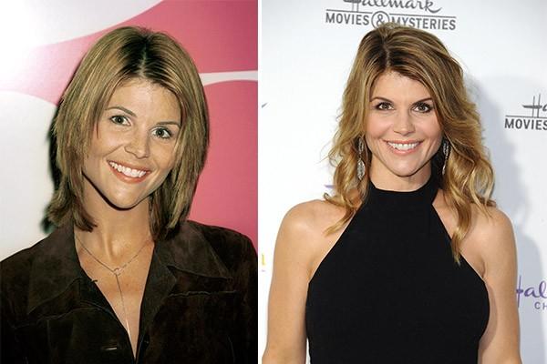 Lori Loughlin ('90210') em 2000 e 15 anos depois, aos 50 anos (Foto: Getty Images)