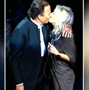 Luiza comenta beijo que ganhou de Julio Iglesias (Arquivo Pessoal)