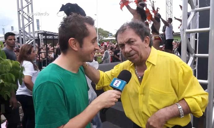 Nunes Filho, o 'príncipe do brega', fala sobre a participação no 'Bem Estar'  (Foto: Rede Amazônica)