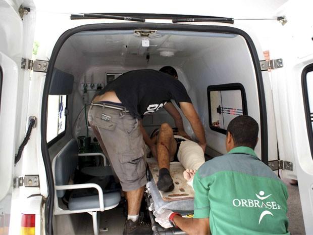 desabamento costa do sauípe; bahia;  Rodrigo Oliveira, vítima de acidente (Foto: Egi Santana / G1)