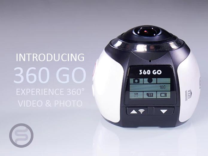 360 Go é uma câmera de ação 4K que grava e fotografa em 360 graus com promessa de preço mais acessível (Foto: Divulgação/StepOn)