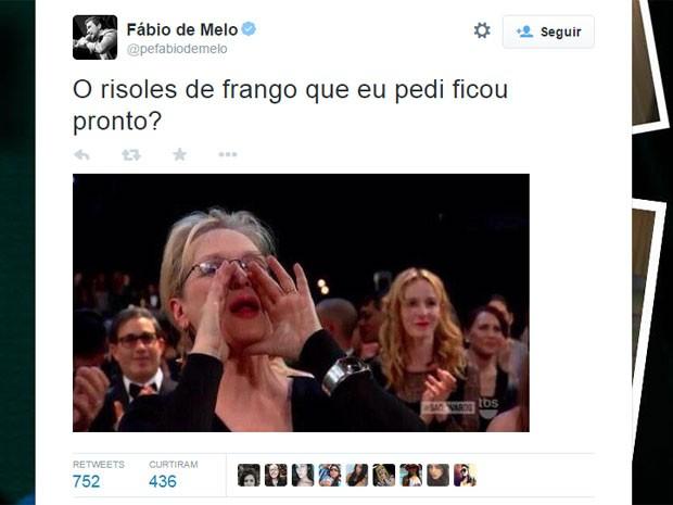 Meryl Streep vibrou com a vitória de Patricia Arquette e virou 'rainha do meme' (Foto: Reprodução/Twitter/pefabiodemelo)