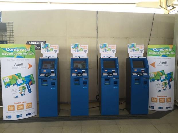 Máquinas que venderão Rio Card durante as Olimpíadas (Foto: Monique Rezende/Divulgação)