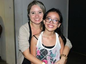 Ingra Dutra, de 10 anos, tentou conhecer ídolo por incentivo da mãe, a professora Ingrid Dutra (Foto: Jamile Alves/G1 AM)
