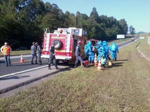 Simulado para prevenir acidentes é realizado na MG-050 em Divinópolis (Foto: AB Nascentes das Gerais/Divulgação)