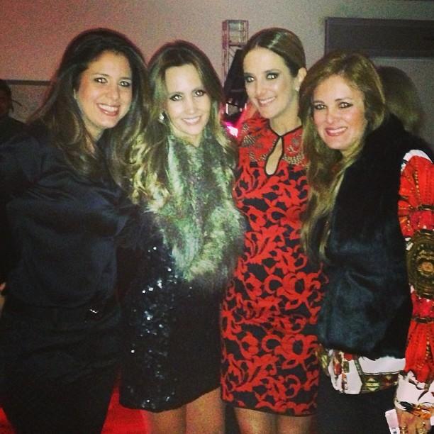 Ticiane Pinheiro e amigas em festa em São Paulo (Foto: Instagram/ Reprodução)