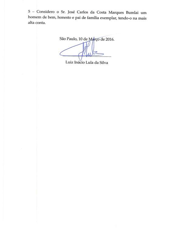 Declaração do ex-presidente Lula à Lava Jato p3 (Foto: Reprodução)