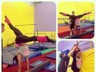Gracyanne Barbosa mostra elasticidade em manhã de malhação