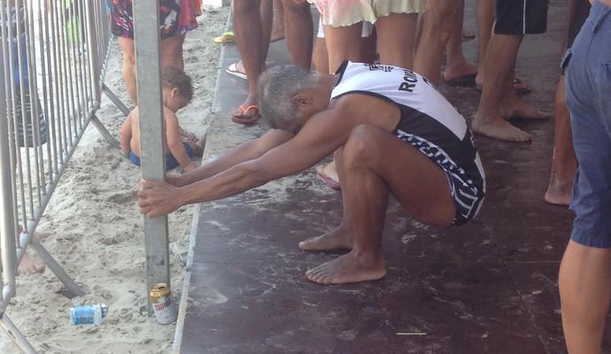 Romário futevôlei (Foto: Bernardo Pombo)