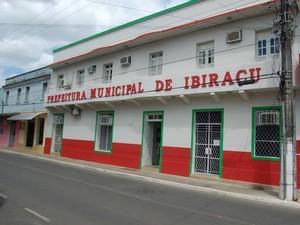 Prefeitura de Ibiraçu, no Espírito Santo (Foto: Arquivo ASCOM/PMI)
