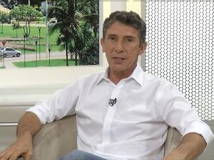 Raul Filho é entrevistado no JA1 edição  (Foto: Reprodução/TV Anhanguera)