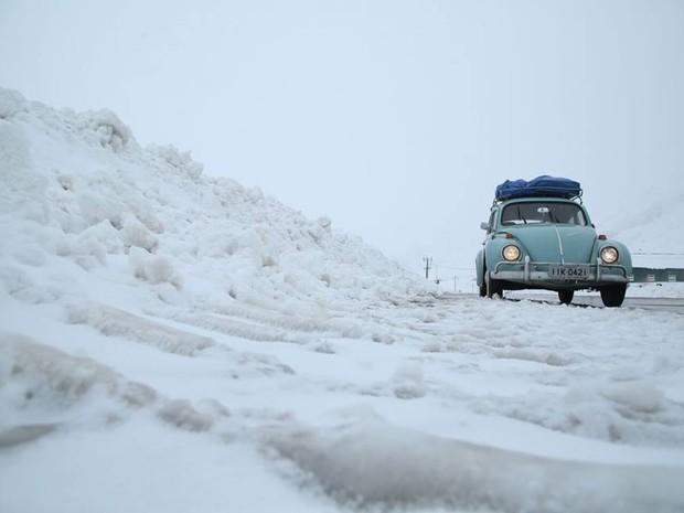 Fusca jornada em direção à Antartida (Foto: Expedição Fuscamérica/Divulgação)