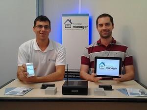 Bernardo e Rodrigo criaram a Home Manager dentro da universidade e hoje estão incubados na Raiar/PUCRS (Foto: Divulgação)