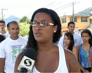 Universitários de Angra pedem auxílio no transporte (Foto: Reprodução RJTV 1ª Edição)