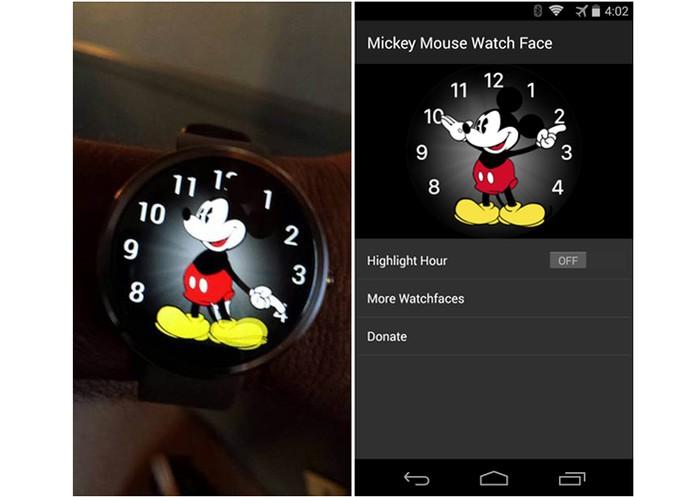 Mickey Mouse ganha versão para o Android Wear (Foto: Reprodução/9to5Google)