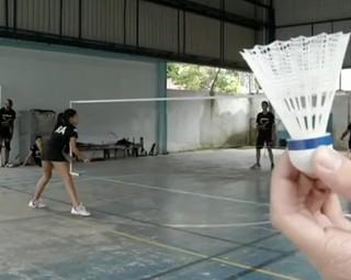 Equipe de badminton de VR fecha 2013 em 1º no ranking estadual (Foto: Reprodução RJTV 1ª Edição)