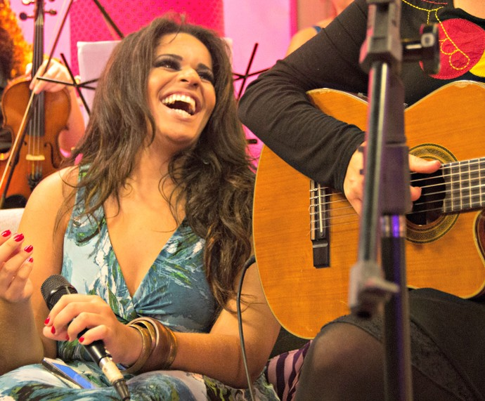 Ana Lonardi Mistura com Rodaika The Voice (Foto: Maicon Hinrichsen/RBS TV)