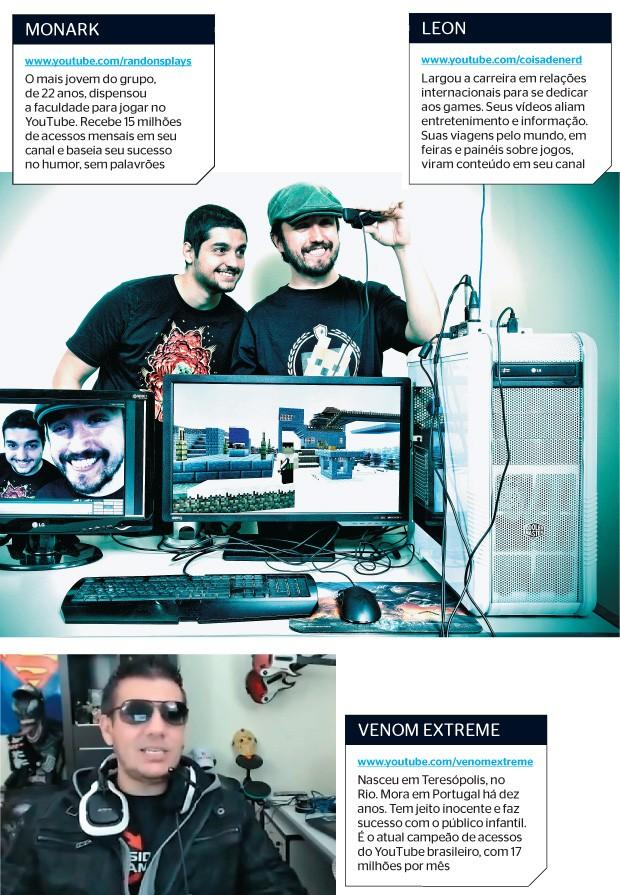 Os artistas improváveis dos games (Foto: Rogério Cassimiro/ÉPOCA e reprodução (2))