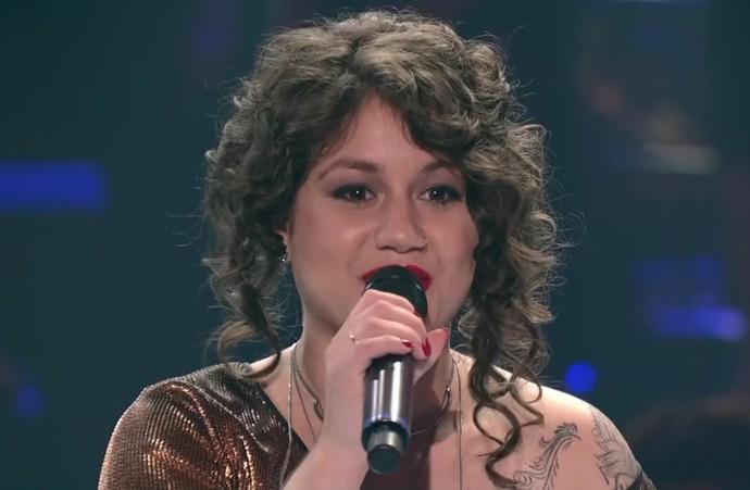 Aretha Lima The Voice Brasil (Foto: Reprodução/RBS TV)
