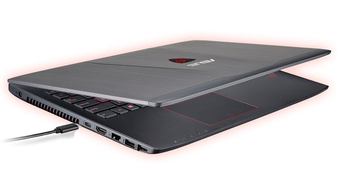 Notebook da linha ROG traz porta USB C (Foto: Divulgação/Asus)