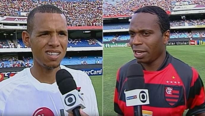 Luis Fabiano x Edílson; São Paulo x Flamengo, 2003 (Foto: SporTV)