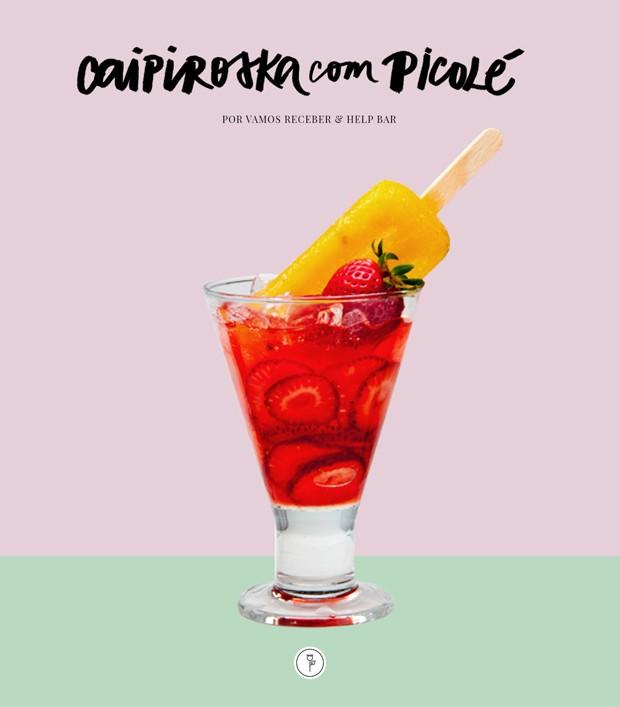 Caipiroska com picolé: veja como fazer este drink refrescante (Foto: Vamos Receber)