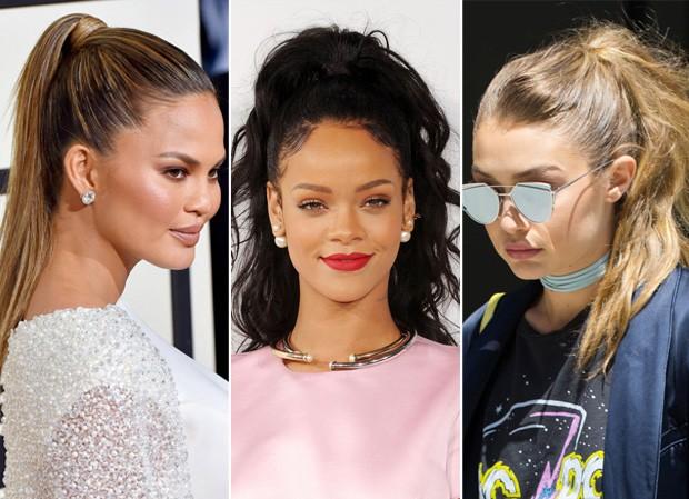 Chrissy Teigen, Rihanna e Gigi Hadid (Foto: Getty Images)