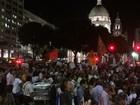 Manifestantes fazem ato contra impeachment no Centro do Rio