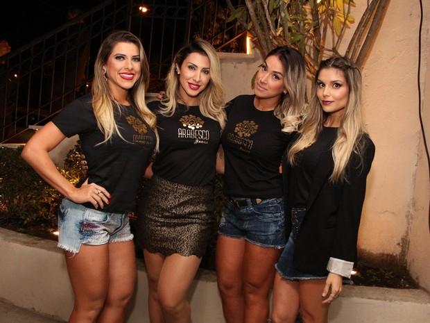 Ana Paula Minerato, Jaque Khury, Dani Bolina e Flávia Viana (Foto: Danilo Carvalho e Thais Aline/ Ag. Fio Condutor)