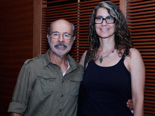 Osmar Prado foi acompanhado da mulher Vânia Penteado (Foto: Ellen Soares / TV Globo)