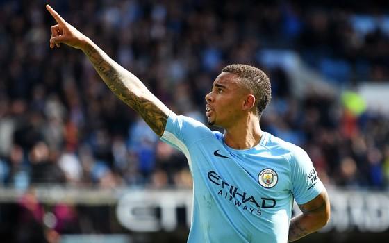 Gabriel Jesus, no Manchester City. O atacante tem a melhor média de gols da história da Premier League (Foto: Getty Images)