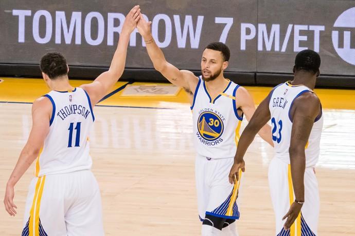 Stephen Curry Warriors x Blazers NBA (Foto: Reuters)