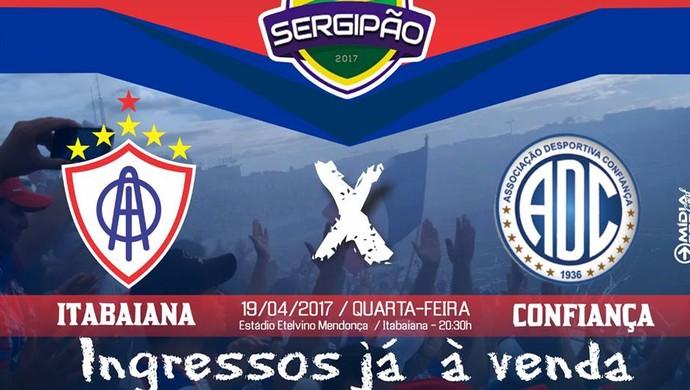 Ingressos para Itabaiana x Confiança (Foto: Divulgação/AOI)